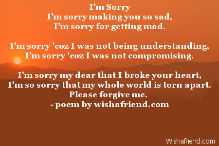 All About Im Sorry For Hurting You Family Friend Poems Kidskunstinfo